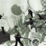 Gyász a szégyenérzet tükrében: Express hírek a lepcses szájúakkal, 2012-13, vegyes technika, fényvisszaverő reflexfólia, jelzőtábla