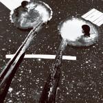 Tisztulás, 2012-13, vegyes technika, fényvisszaverő reflexfólia, jelzőtábla
